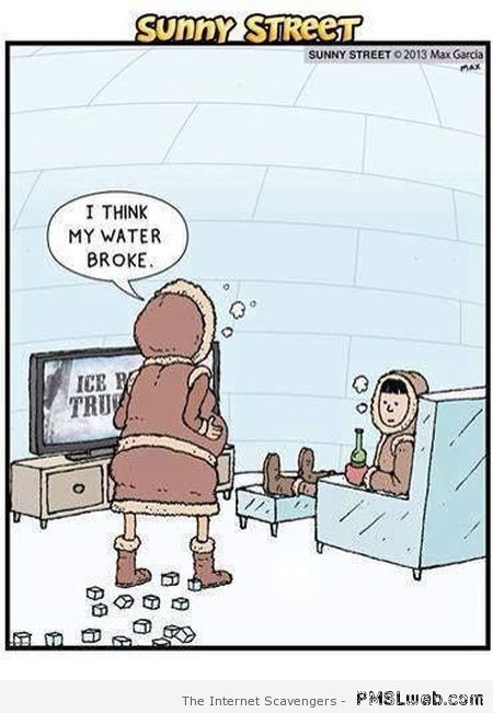 Funny Eskimo cartoon at PMSLweb.com