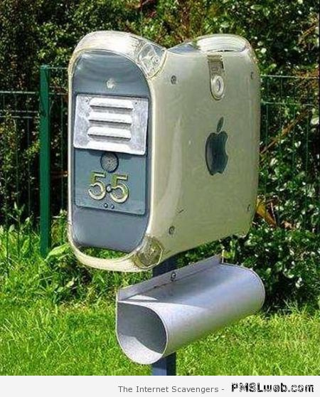 Apple computer mailbox – Funny computer pictures at PMSLweb.com
