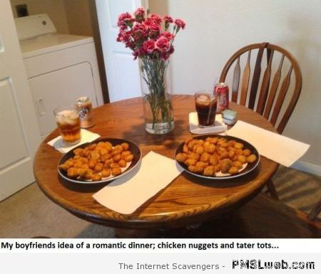Love humor a pre valentine s day treat pmslweb for Easy romantic dinners to make at home