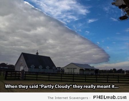 Partly cloudy meme at PMSLweb.com