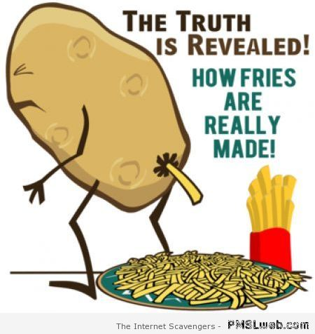 How fries are really made – Crazy Sunday at PMSLweb.com