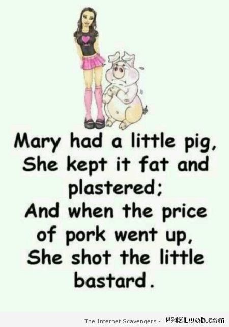 Mary had a little pig at PMSLweb.com