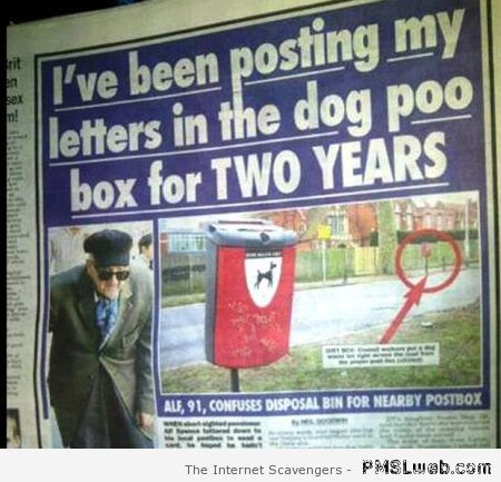 My letters in the dog poo box at PMSLweb.com