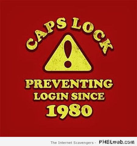 Cap locks humor at PMSLweb.com