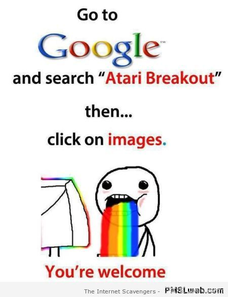 Google Atari breakout at PMSLweb.com