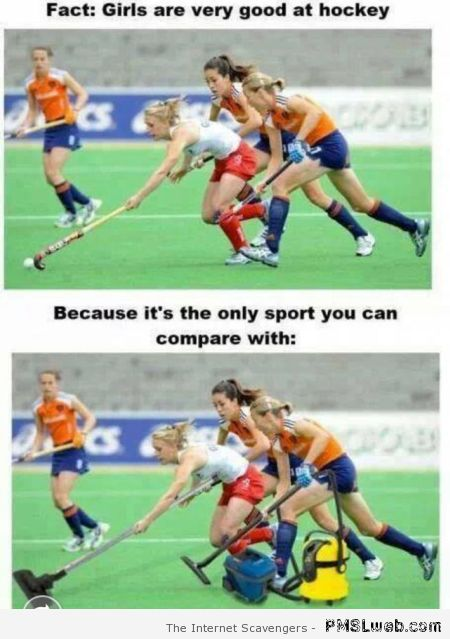 Girls are very good at hockey – New week humor at PMSLweb.com