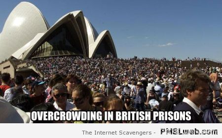 Overcrowding in British prisons meme at PMSLweb.com