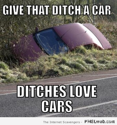 Ditches love cars – Hysterical Hump day at PMSLweb.com