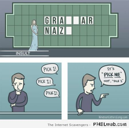 Grammar nazi cartoon at PMSLweb.com