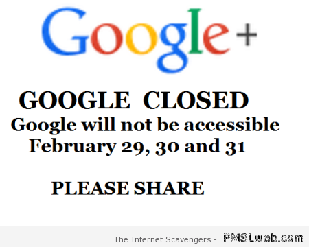 Google closed prank – Funny computer pictures at PMSLweb.com