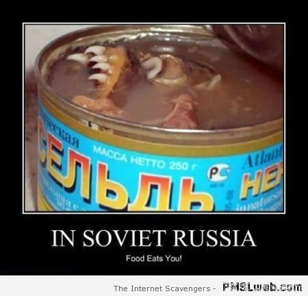 Scary food in soviet Russia at PMSLweb.com