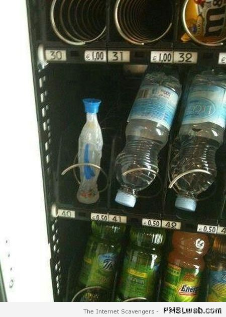 Holy water in vending machine at PMSLweb.com
