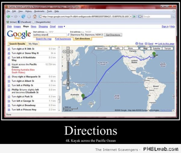 Kayak across the pacific ocean directions at PMSLweb.com