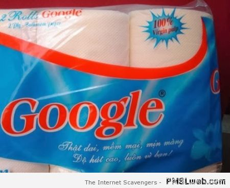 Google toilet paper at PMSLweb.com