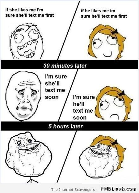 Crush text message rage comic at PMSLweb.com