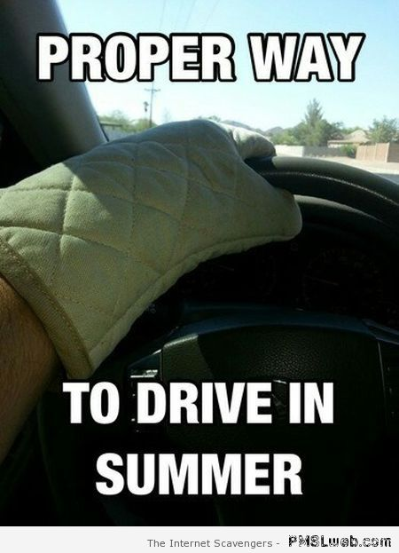 Proper way to drive in summer meme at PMSLweb.com