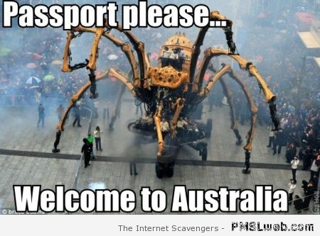 Passport please welcome to Australia at PMSLweb.com