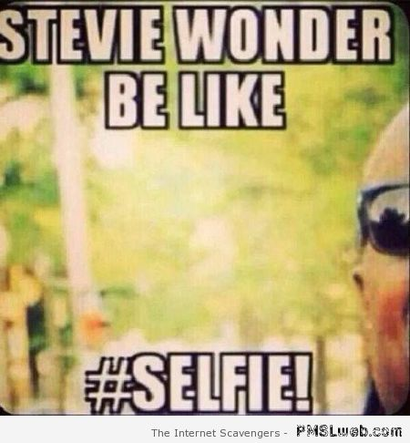 Stevie Wonder selfie at PMSLweb.com