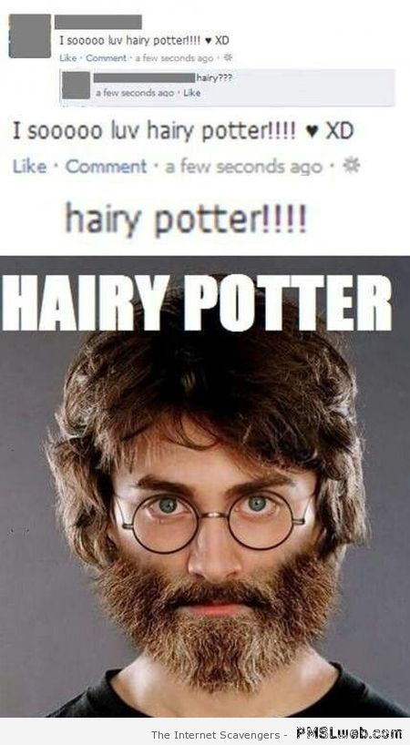 Hairy potter – New week humor at PMSLweb.com