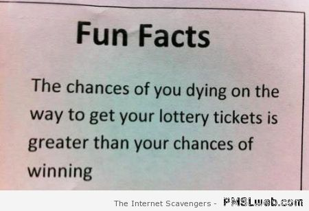 Fun facts about winning the lottery at PMSLweb.com