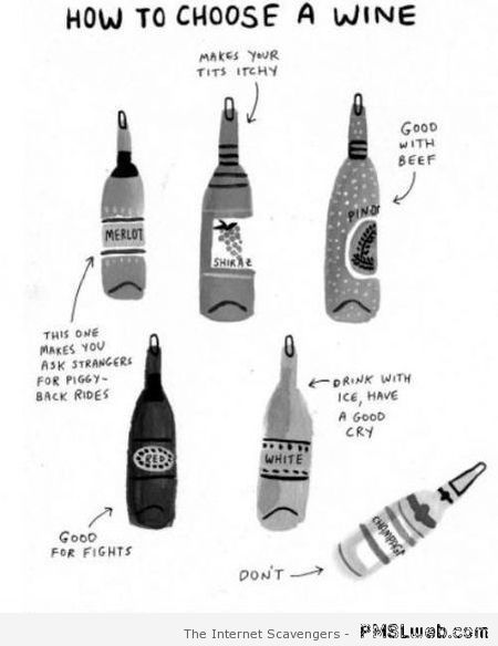 How to choose a wine at PMSLweb.com