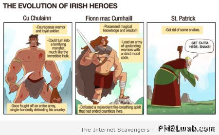 Evolution of Irish heroes at PMSLweb.com