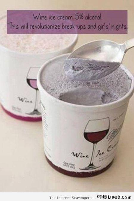 Wine ice cream at PMSLweb.com