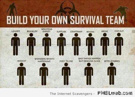 Build your own survival team at PMSLweb.com