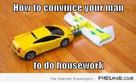 How to convince your man to do housework at PMSLweb.com