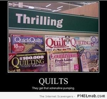 Thrilling quilts at PMSLweb.com
