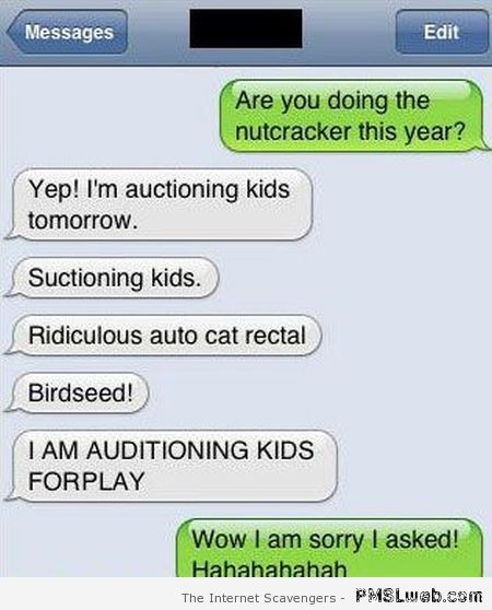 Nutcracker fail funny autocorrect at PMSLweb.com