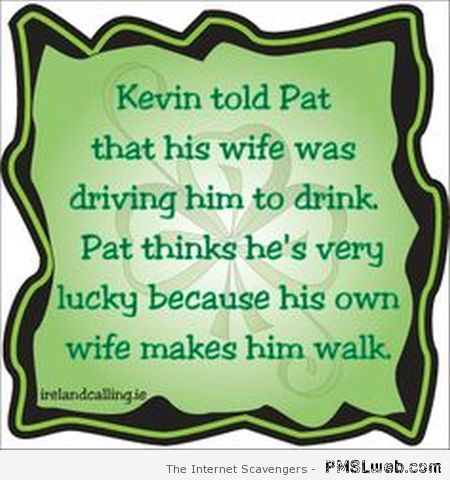 St Patrick's joke at PMSLweb.com