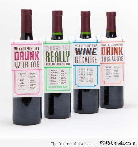 Funny wine labels at PMSLweb.com