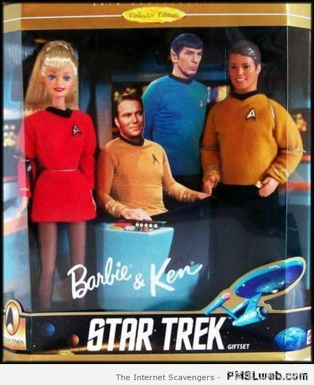 Star Trek Barbie and Ken at PMSLweb.com