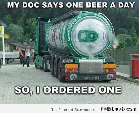 One beer a day meme – Funny St Patrick at PMSLweb.com