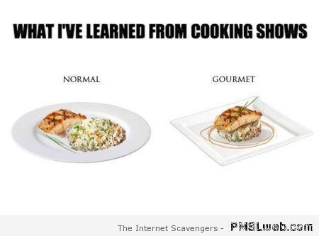 What I've learned from cooking shows at PMSLweb.com