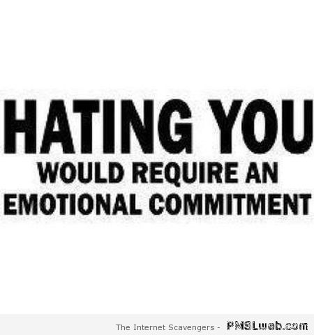 Hating you quote at PMSLweb.com
