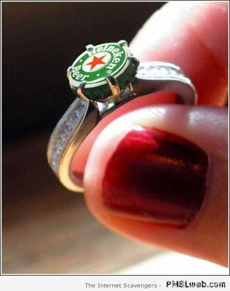 Heineken engagement ring at PMSLweb.com