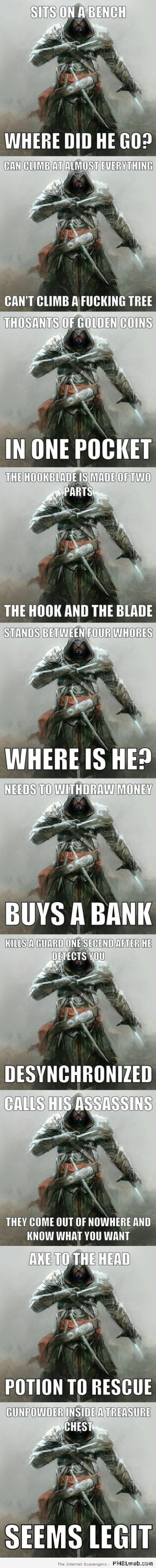 Assassin's creed memes at PMSLweb.com