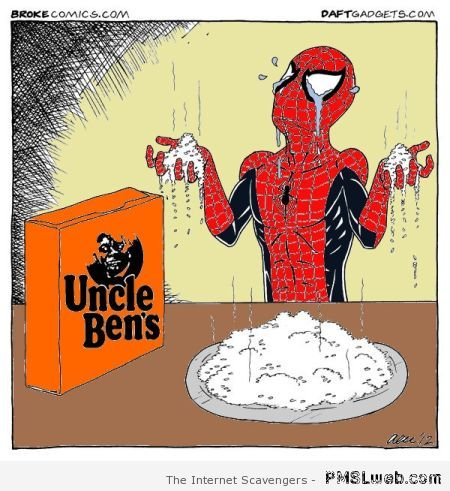 Spiderman uncle Ben's cartoon at PMSLweb.com