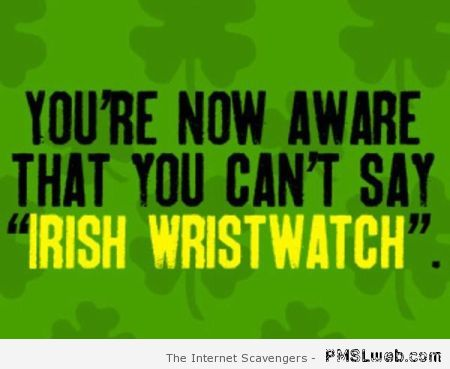 Irish tongue twister – Funny St Patrick at PMSLweb.com