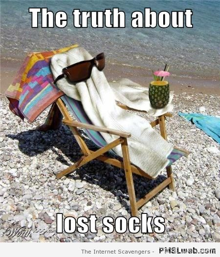 The truth about lost socks at PMSLweb.com