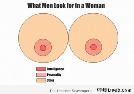 What men look for in a woman funny at PMSLweb.com