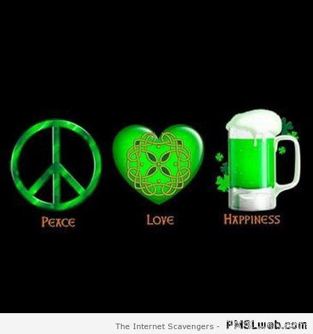Irish peace and love at PMSLweb.com