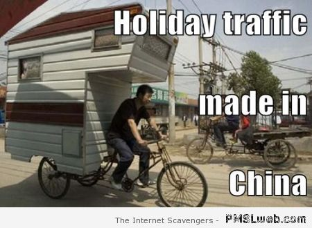 Holiday traffic made in China at PMSLweb.com