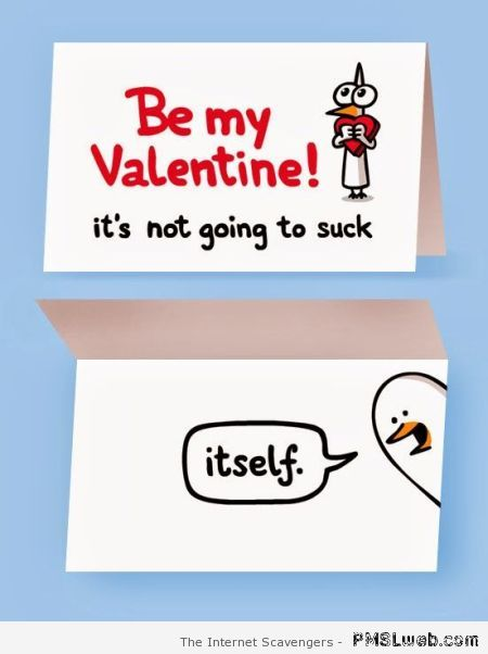 Be my valentine naughty card at PMSLweb.com