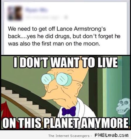 Lance Armstrong fail – Hump day funny pics at PMSLweb.com