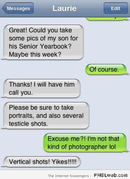Testicle shots fail funny autocorrect at PMSLweb.com