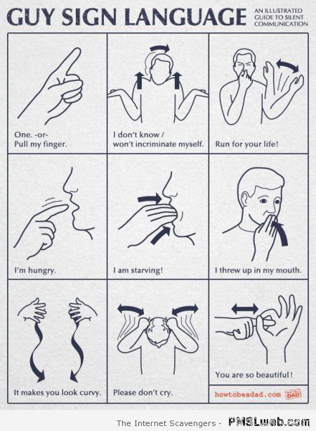 Guy sign language at PMSLweb.com