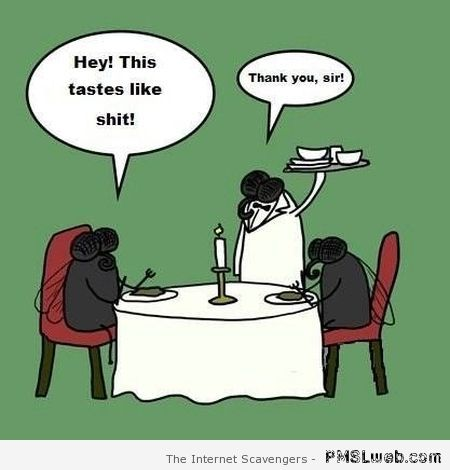 Flies at the restaurant – Funny Monday at PMSLweb.com